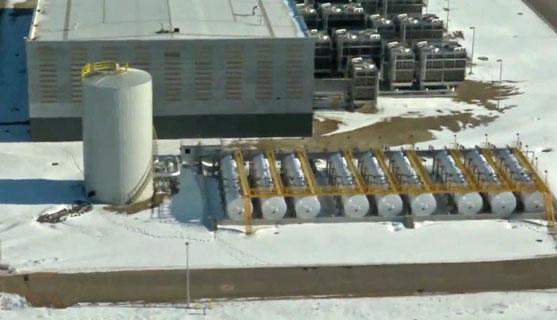 NSA Utah Data Center water tanks for the chiller plant
