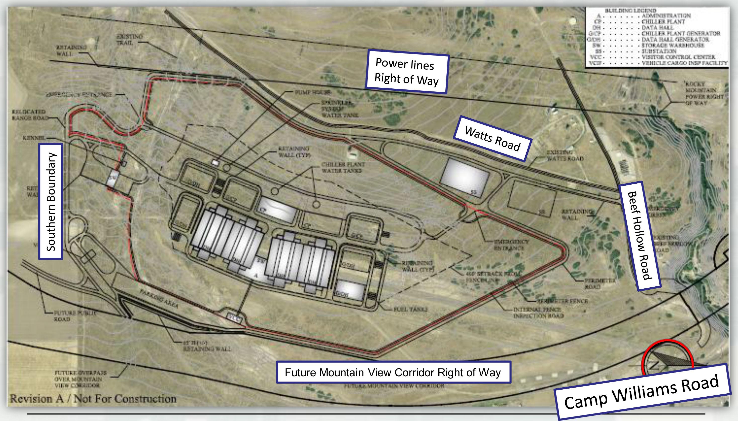 View The Full Size Utah Data Center Site Plan