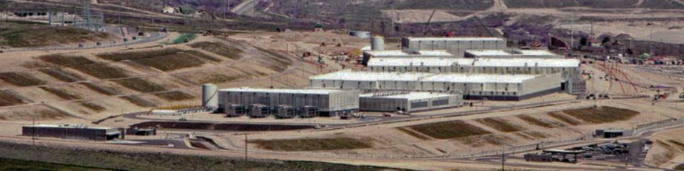 Aerial view of NSA Utah data center in April 2013
